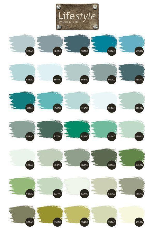 Aqua en groen tinten