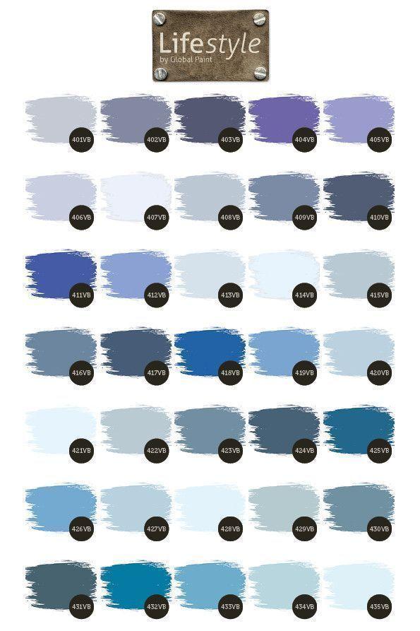 Violet en blauw tinten